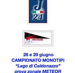 """CAMPIONATO MONOTIPI E PROVA ZONALE """"METEOR"""" – 28 e 29 giugno"""