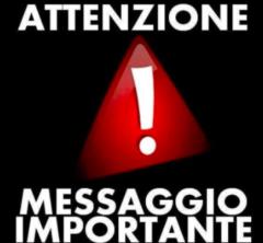 ATTENZIONE: PROSSIMO FINE SETTIMANA, SERVIZIO RISTORAZIONE NON GARANTITO